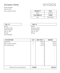 Word Invoice Template 2003 Free Invoice Ates For Word Excel Open