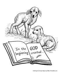Bible Creation Story Coloring Pages 9