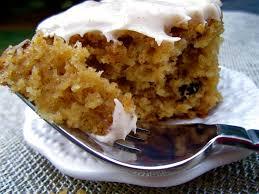 Stephanie Cooks Spiced Applesauce Cake with Cinnamon Cream Cheese