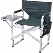 Aluminum Directors Chair With Swivel Desk by Camping Chairs