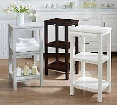 Narrow Bathroom Floor Cabinet by Bathroom Storage Pottery Barn
