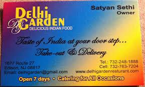 Business Card Redesign Delhi Garden