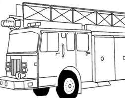 Coloriage Le Camion De Pompier Coloriage Camion De Pompier À