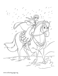 Coloring Page Frozen Animation Movies 71