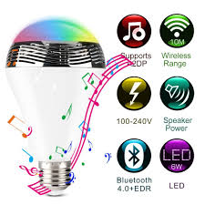 smart led bulb bluetooth speaker color changing works ios android