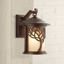 bronze mission style tree 15 high outdoor wall light w8314