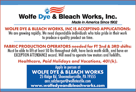 fabric production operator job in pa reading reading eagle