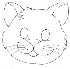 Cat Mask Coloring Page 2