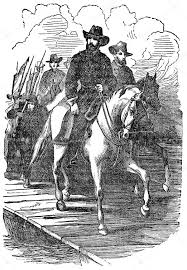 An Engraved Vintage Illustration Image Of A General Ulysses Grant Marching On Richmond During The American Civil War From Victorian Book Dated 1880 That