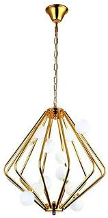 pendelleuchte gold retro käfig hängele glas lenschirm