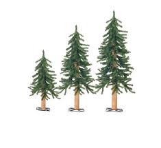 Rustic Artificial Christmas Tree Set Of 3 Country Alpine Trees Holiday Decor Greenery Home Improvement Shows