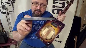 Paint Can Lid Cigar Box Dobro Guitar