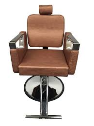 Fully Reclining Barber Chair by Rose Gold Executive Luxurious Reclining Hydraulic Salon Barber