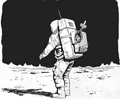 Astronaut the Moon Drawing Pics about space Art