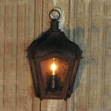 Rustic Candle Lantern Bamboo Wall Sconce O Sconces