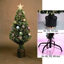 6ft Artificial Christmas Tree Pre Lit by Fibre Optic Christmas Tree 5ft Christmas Lights Decoration