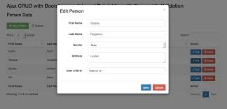 Codeigniter Ajax CRUD using Bootstrap modals and DataTables with