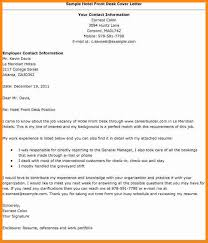 Cover Letter For Front Desk Officer by Front Desk Hotel Cover Letter Cover Letter Front Office Front