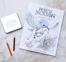 Copy Of The Percy Jackson Coloring Book Branded Tin Colored Pencils 50 Visa Gift Card To Put Towards Your Artistic Quests