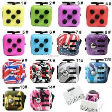Fidget Cube Anxiety Sensory Toy With 6 Sides For Focus And Stress Relief Children Adults Green Blue Pink Grey Red Camo Flag Hand Relievers