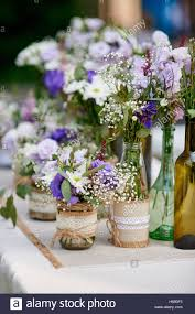 Rustic Wedding Decor Provence Style Lavender Bouquet Of Field