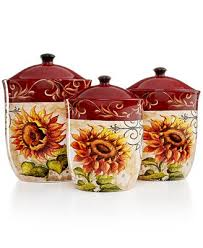Sunflower Canister Sets Kitchen Tuscan Decor Best Home Decoration