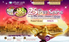 Silver Oak Casino 25 Aladdin's Wishes FREE Spins | Casino Bonus ... Top No Deposit Casino Mobile For 2019 Silver Oak Online Bonus Masterpiece Studio Roaring 21 Detailed Review Code And Rich Casino No Deposit Bonus Codes 25 Free Spins Codes 365 Roulette Royal Ace Casinobonusclub Best Five No Deposit Bonus Codes Mobile Tablet Payout Online Casino Coupon Kamus Free On Pandas Onbling Double Down Slots Poker