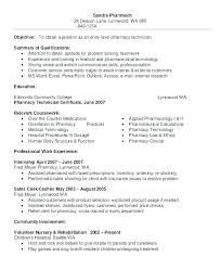Resume Of Pharmacist Retail Job Examples