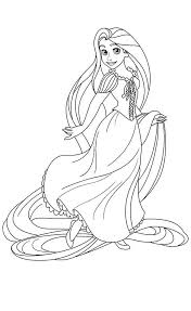 Free Downloads Coloring Disney Princess Pages Rapunzel On Printable 34 3414