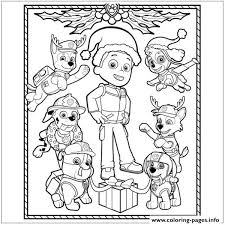 Paw Patrol Christmas Ryder Coloring Pages Printable