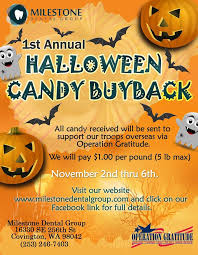 Operation Gratitude Halloween Candy Buy Back by Where Kids Can Sell Back Halloween Candy Near Tacoma Auburn