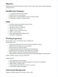 Cashier Resume Samples Qualifications Of Retail Store Sample