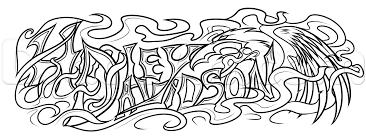 Harley Davidson Tattoo Drawing Step 8