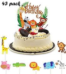 cake toppers zoo kuchendeko tiere geburtstag tortendeko
