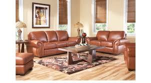 100 2 Sofa Living Room Balencia Light Brown Leather Pc