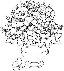 Color Flower Pot Coloring Page Printable Kids Colouring Pages In