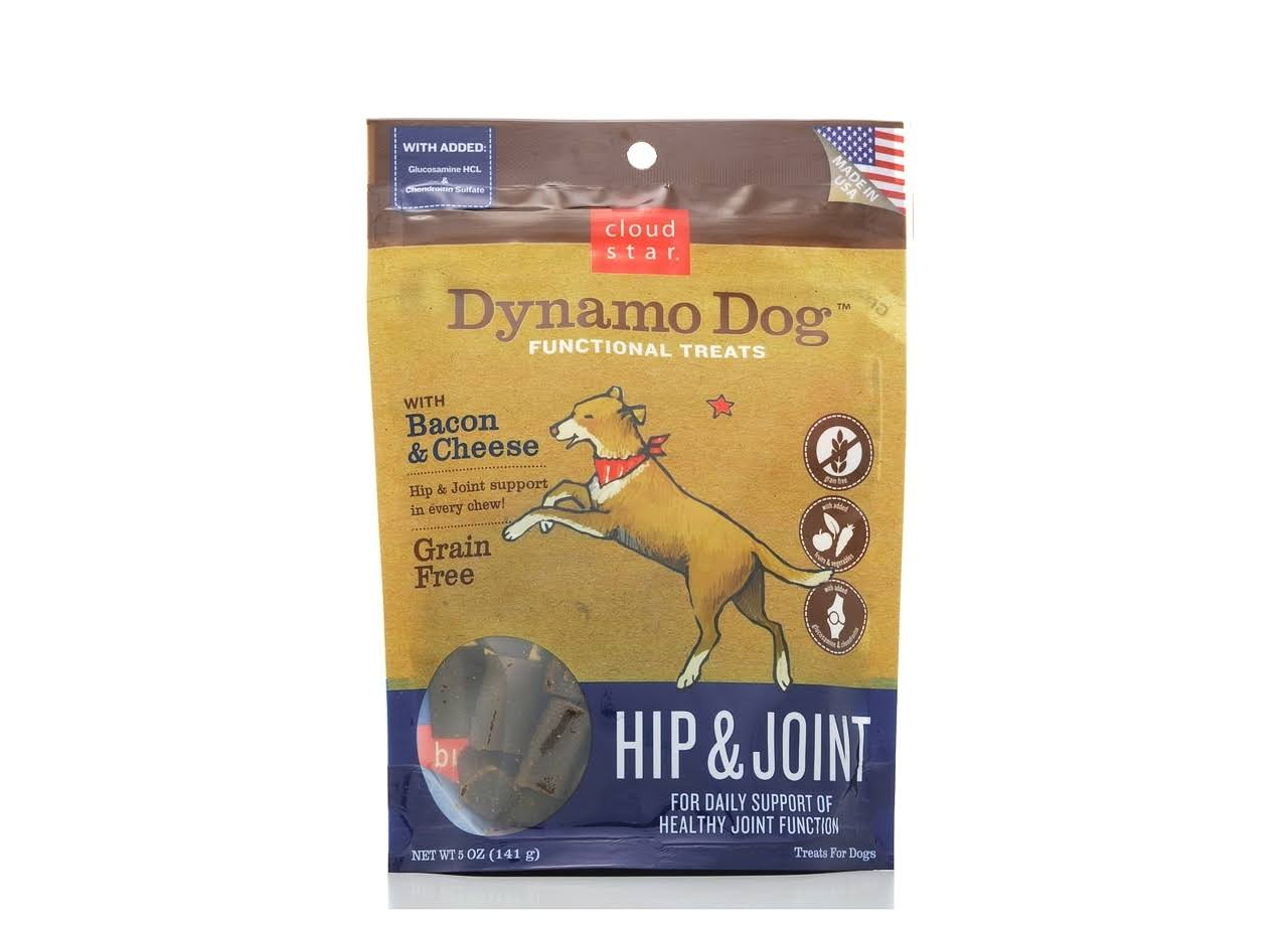 Cloud Star Dynamo Dog Functional Treats - Bacon & Cheese, 141g