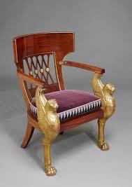fontaine de bureau a consulat mahogany and carved giltwood fauteuil de bureau by