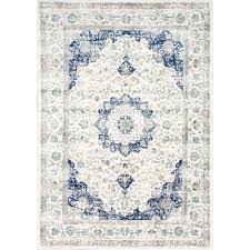 nuLOOM Verona Blue 6 ft 7 in x 9 ft Area Rug RZBD07A 6709 The
