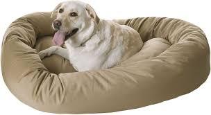 majestic pet bagel dog bed 52 inch khaki chewy com