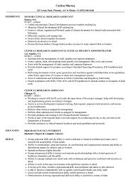 Clinical Research Assistant Resume Samples | Velvet Jobs Resume For Research Assistant Sample Rumes Interns For Entry Level Clinical Associate Undergraduate Assistant Example Executive Administrative Labatory Technician Free Lab Examples By Real People Market Objective New Teacher Aide No Experience Elegant Luxury Psychology Atclgrain Biology Ixiplay