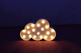 white cloud led marquee sign light up vintage metal light