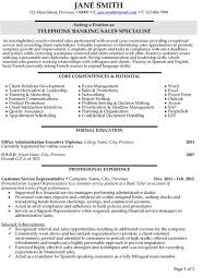 Click Here To Download This Telephone Banking Sales Specialist Resume Template