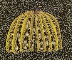 Yayoi Kusama Pumpkin Sculpture by Yayoi Kusama Pumpkin Yellow For Sale Singapore Rare Print