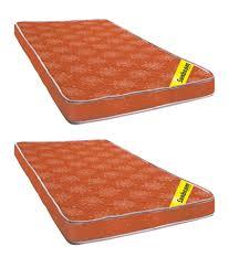 Sunbeam Brown Poly Cotton Foam Mattress Buy 1 e Get e Free