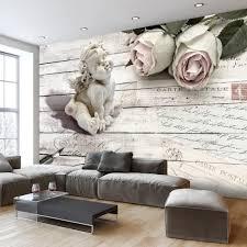 fototapete selbstklebend engel 392x280 cm tapete wandtapete wandbilder klebefolie dekofolie tapetenfolie wand dekoration wohnzimmer blumen holz