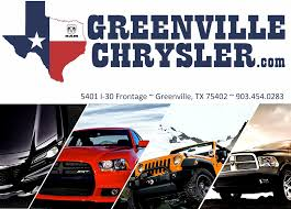 Greenville Texas Chrysler Jeep Dodge Dealer Reviews | Page 1 Enterprise Car Sales Certified Used Cars Trucks Suvs For Sale Todays Tomorrows Classics Carfax Blog Bonham Chrysler We Sell Sasfaction On Twitter Dodge Challenger Hellcat Is A Beast Parkway Buick Gmc Dealer In Sherman Tx New Pin By 200 Pinterest 2018 Dodge Charger Sxt And Vehicles Recyclercom Pictures Greenville Auto Show Photos Texas 1 Volume Fivestar Home Of Beaman Jeep Ram Fiat Murfreesboro Tn Dually Full Wrap City