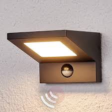 led outdoor wall light levvon with motion detector lights co uk