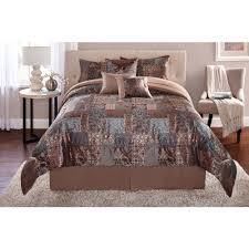Walmart Bed In A Bag by Mainstays 7 Piece Patchwork Bedding Comforter Set Walmart Com
