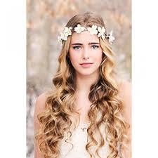 Bridal Flower Wreath Woodland Halo Wedding Crown Head Piece Rustic Hair Band Headband